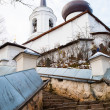 Monastery Sviatogorskiy, Russia, where writer Alexandre Pushkin is burried — Stock Photo