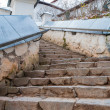 Stairs in Monastery Sviatogorskiy, Russia, where writer Alexandre Pushkin is burried — Stock Photo #14947895