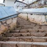 Stairs in Monastery Sviatogorskiy, Russia, where writer Alexandre Pushkin is burried — Stock Photo