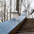Stairs in Monastery Sviatogorskiy, Russia, where writer Alexandre Pushkin is burried — Stock Photo