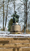 Monument to Alexandr Pushkin, Russian writer — Stock Photo
