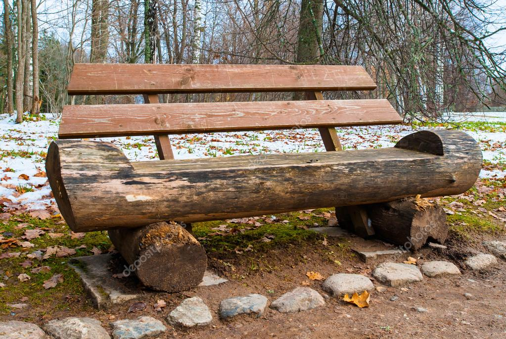 Wooden decorative bench  Stock Photo #14947543