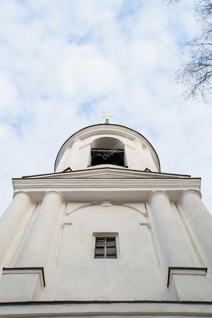 Monastery Sviatogorskiy, Russia, where writer Alexandre Pushkin is burried — Stock Photo #14947939