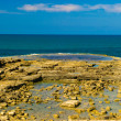 Caesarea Maritima, Medeterranian sea, Israel - Stock Photo