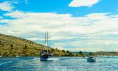 хорватского побережья адриатического моря, хорватия, европа — Стоковое фото