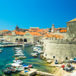 View from the walls of the old town of Dubrovnik, Croatia — Stock Photo