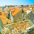 Rooftops in Dubrovnik's Old City, a UNESCO World Heritage Site. — Stock Photo