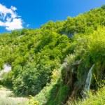 Waterfall under the blue sky in Croatia — Stock Photo #16225435