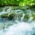 Water runs among the stones — Stock Photo #16225509