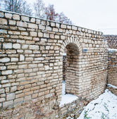 Parts of the Kremlin of Pskov, Russia.Destroyed during the World — Stock Photo
