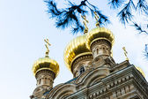 Kaple ruské pravoslavné církve marie magdalény, jerus — Stock fotografie