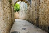 通过 dolorosa,耶路撒冷,以色列 — 图库照片