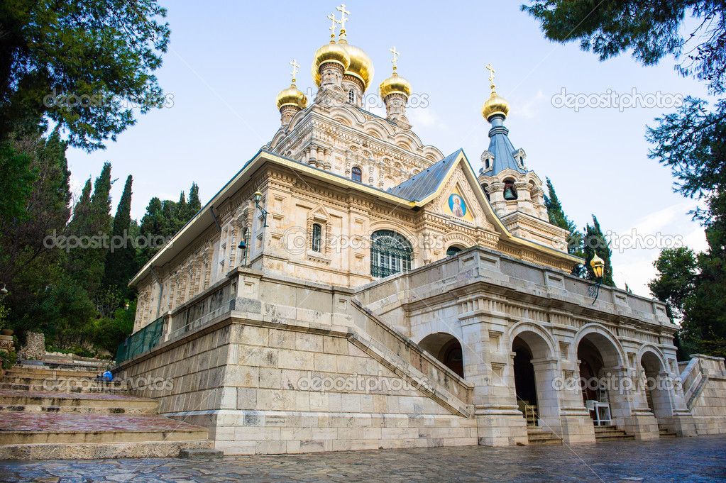 Resultado de imagen de iglesia ortodoxa rusa en jerusalem
