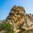 Beautiful rock of the Mount Kumgang in Kangwon-do, North Korea. - Foto de Stock