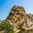 Beautiful rock of the Mount Kumgang in Kangwon-do, North Korea. - Photo