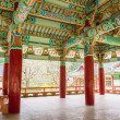 Small pavilion at Pohyeon-sa in Myohyang-san, North Korea — Stock Photo #16925241