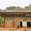 View of the Pavillion at Pohyeon-sa in Myohyang-san. — Stock Photo