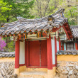 Small pavilion at Pohyeon-sa in Myohyang-san, North Korea — Stock Photo #16925257