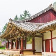 North Korea, Pavillion at Pohyeon-sa in Myohyang-san. — Stock Photo #16925265