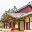 North Korea, Pavillion at Pohyeon-sa in Myohyang-san. — Stock Photo