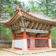 Small pavilion at Pohyeon-sa in Myohyang-san, North Korea — Stock Photo #16925281