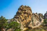 Beautiful rock of the Mount Kumgang in Kangwon-do, North Korea. — Foto de Stock