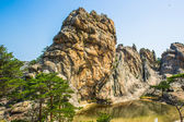 Incredible spectacular view of the stone formations of the Mount — Foto de Stock