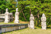 Statues of Muninseok (State civil official) at the Tomb of King — Stock Photo
