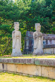 Tomb of King Kongmin, a 14th-century mausoleum, North Korea — Stock Photo