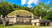 Túmulo do rei kongmin, um mausoléu do século xiv, a coreia do norte — Foto Stock