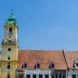 Architecture of Bratislava, capital of Slovakia, which lays on b — Foto Stock