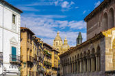 Old Town of Segovia and its Aqueduct. UNESCO World Heritage — Stock Photo