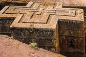 Ethiopia, Lalibela. Moniolitic rock cut church — Stock Photo