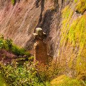 Etiopia, lalibela. moniolitic wykopu kościoła — Zdjęcie stockowe