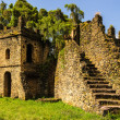 UNESCO World Heritage Site. Fasilides Castle in Gondar, Ethiopia, Africa — Stock Photo