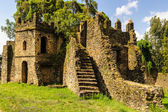 Castle of Fasilides, Emperor of Gondar, Ethiopia, Africa — Stock Photo