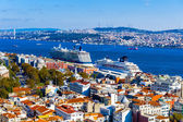 View from the Galata Tower, Istanbul, Turkey — Stock Photo