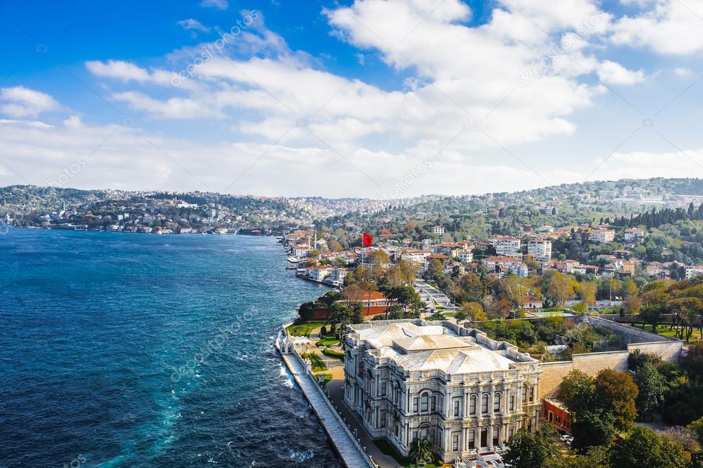 屈曲克苏故宫,颐和园在伊斯坦布尔,土耳其,博斯普鲁斯海峡的亚洲海岸