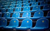 Blue empty stadium grandstands — Stock Photo