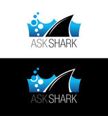 Shark business logo. Vector symbol, sign, illustration, template — Stock Vector