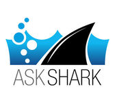 Shark business logo. Vector symbol, sign, illustration, template — Stock Vector