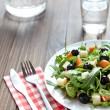 Mediterranean salad and ingredients — Stock Photo