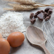 Stock Photo: Ingredients to prepare cake