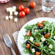 Mediterranesalad and ingredients — Stock Photo #14169996