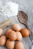 Ingredients to prepare a cake — Stock Photo
