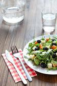 Mediterranean salad and ingredients — Stock Photo