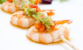 Skewer shrimp — Stock Photo