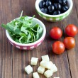 Ingredients for preparing salad — Stock Photo #14170194