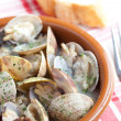Clams soup — Stock Photo