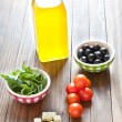 Ingredients for preparing a salad — Stock Photo